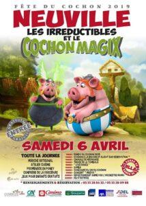affiche fête du cochon Neuville 2019