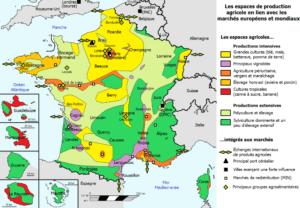 agriculture en france, la carte