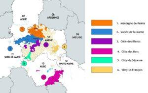 carte du vignoble champenois