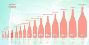 taille des bouteilles de champagne