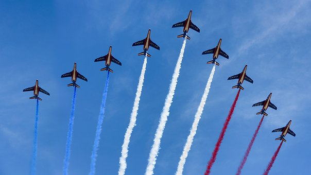 parade avion du 14 juillet