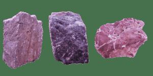 3 pierres en Marbre