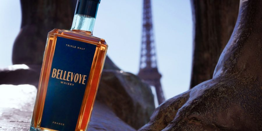 Bouteille, whisky Bellevoye