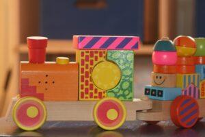 Train jouet en bois Noël,