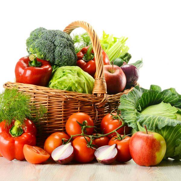 Panier de légumes anciens