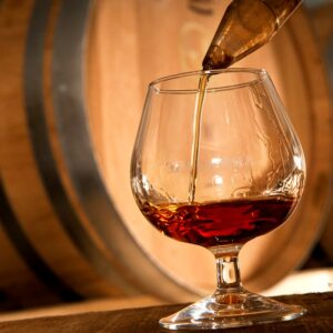 Dégustation verre d'armagnac