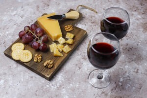 Plateau vin fromage