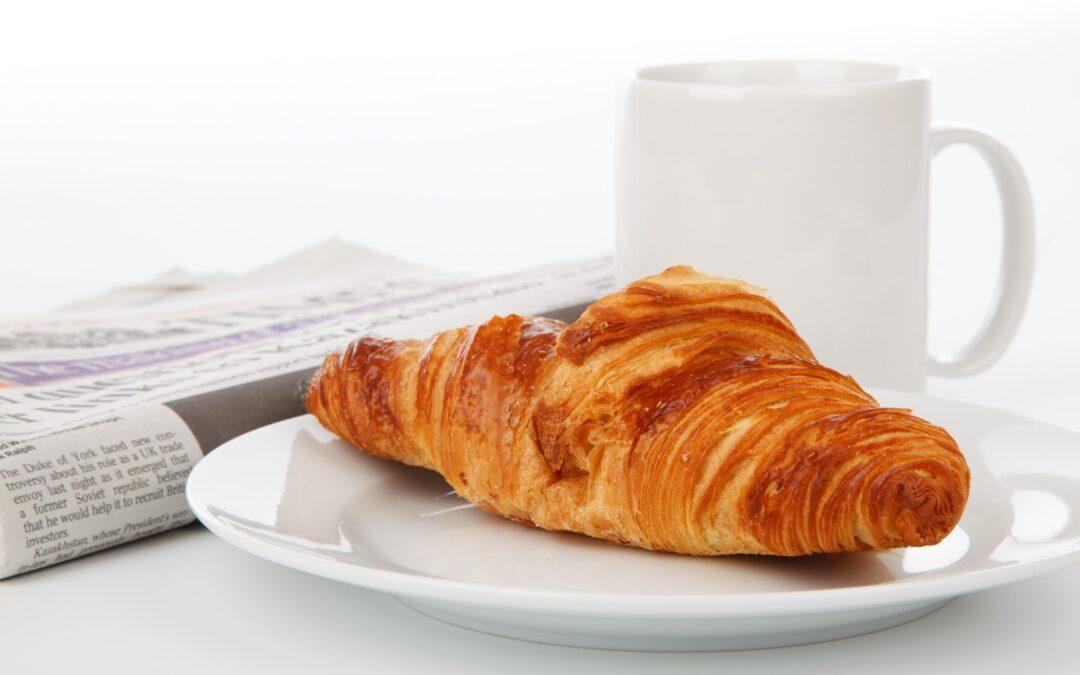 Croissant, Tasse à café,
