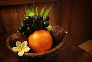Pannière de fruits,