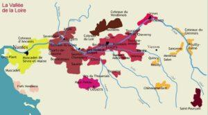 Carte des vins de Loire,
