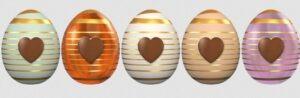 Bannière oeufs de Pâques,