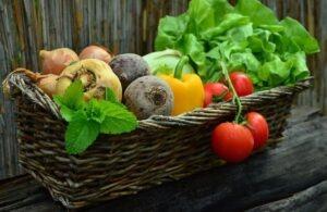 Panier de légumes anciens,
