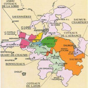 Carte des vins de Saumur