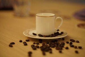 Tasse grains à café