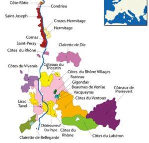 Cartes des côtes du Rhône,