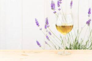 Verres à vins lavande de Provence,
