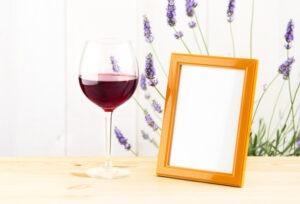 Verre à vins lavande de Provence,