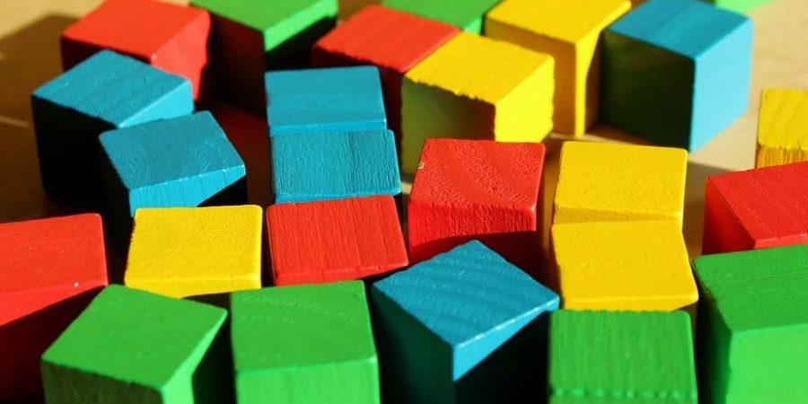 Jouets en Bois, Cubes couleurs,