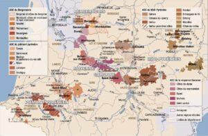Cartes des vins Sud-ouest,