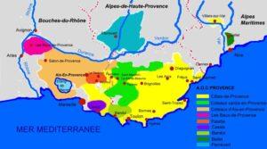 Carte des Vins Rosé de Provence,