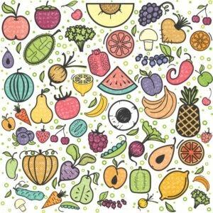 Tableau des légumes et fruits de SAison,