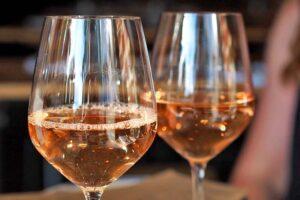 Verres à dégustation rosé de Loire,