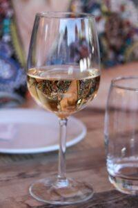 Verre vin rosé d'Alsace,