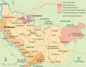 Carte géographique AOC Clairet de Quinsac,