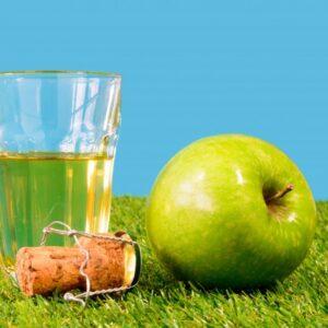 verre à cidre pomme bouchon liège,