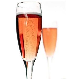 Une coupe champagne Rosé,