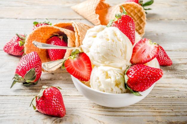 Glace Fraise vanille, une recette facile
