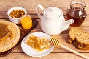 Café miel petit déjeuner,