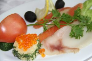 Assiette Saumon Fumé Caviar,