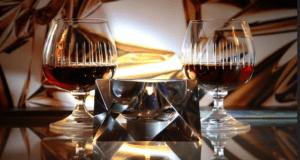 Dégustation dans verre à Cognac,