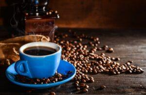 Tasse café, grains de café