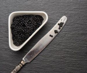 Assiette caviar Français,