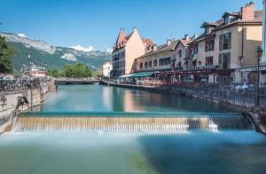 Le lac et le canal d'Annecy,
