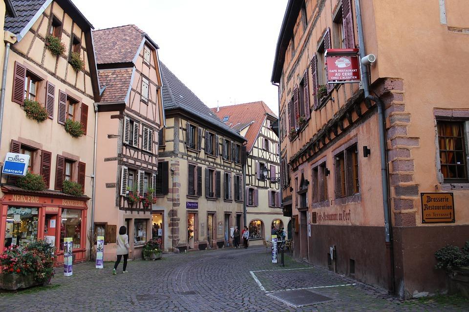 Un village pitoresque des Vosges,