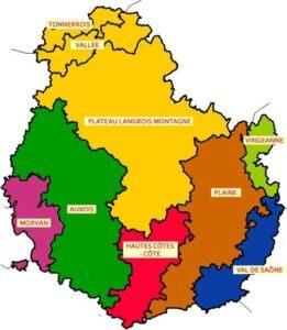 Carte géographique du département de la côte d'Or,