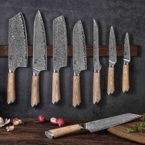 Couteaux de cuisine Damas japonais,